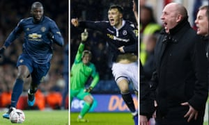 Romelu Lukaku of Manchester United; Jake Cooper of Millwall; John Coleman manager of Accrington Stanley.