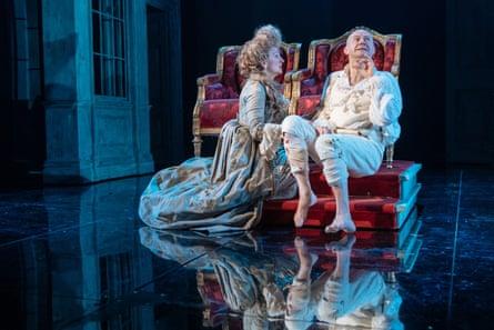 Debra Gillett as Queen Charlotte and Mark Gatiss as King George III.