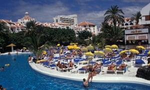 A hotel pool in Tenerife