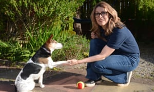 Dr Lucy Asher, co-author of the research, with her dog Martha.