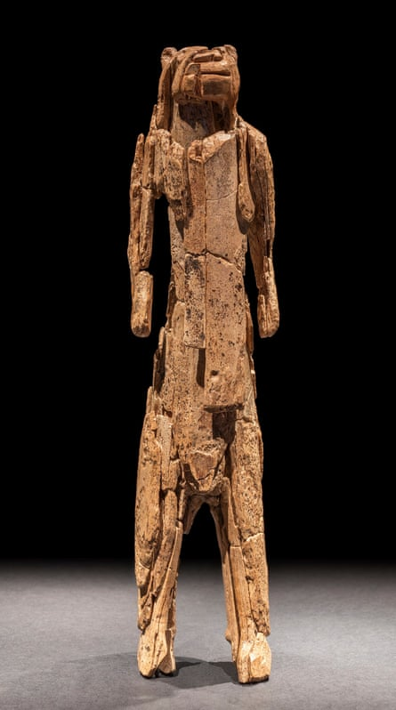 Lion-man – a mammoth ivory sculpture representing a human body with a lion's head,.