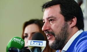 Matteo Salvini talks to the media the day after the Emilia-Romagna vote.