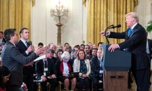 CNN chief White House correspondent, Jim Acosta and Donald Trump
