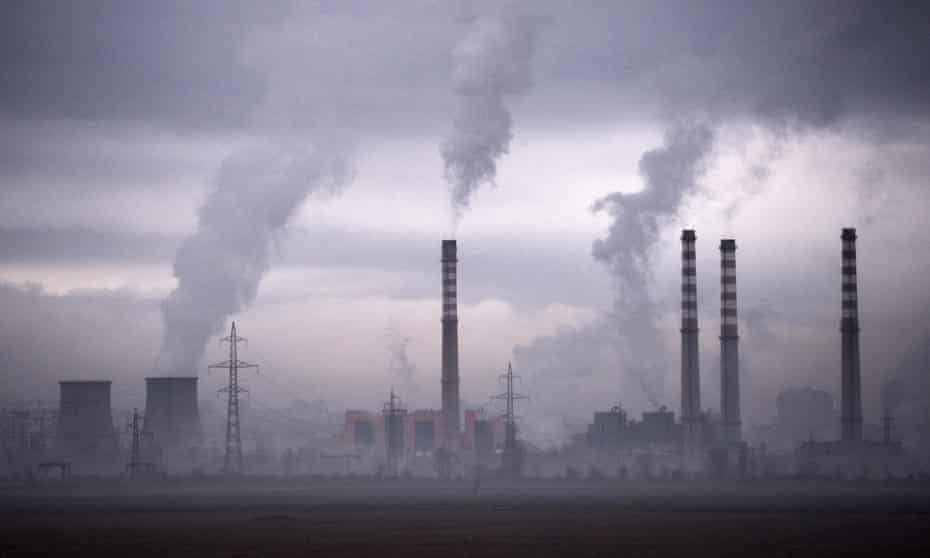 Smoke rises from a thermal power station in Sofia, Bulgaria