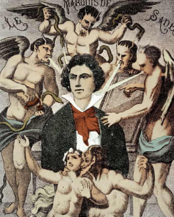Detail from H Biberstein's allegorical portrait of De Sade.