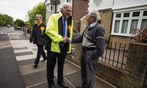 Sir Vince Cable campaigning in Twickenham.