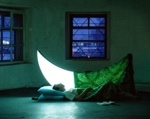 Like a lunar unicorn, under the covers, she shines even brighter, Journey of the Private Moon, Moscow, 2003-2005