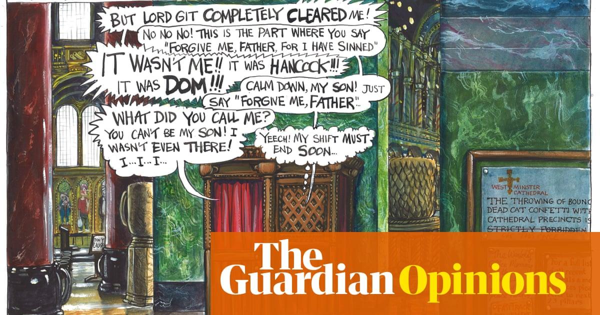 Martin Rowson on Boris Johnson in the confessional – cartoon