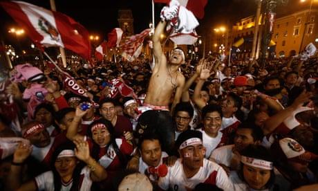 Fans in Lima celebrate Peru reaching World Cup finals – video