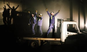 We're Still Here, a play about steelworkers in Port Talbot, created by Rachel Trezise, Common Wealth and National Theatre Wales.