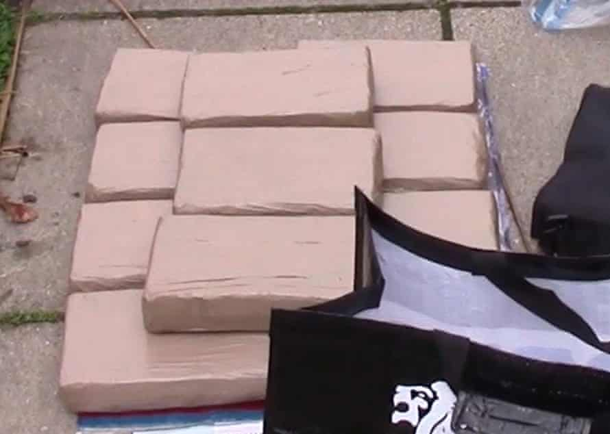 The 48lb (22kg) of cocaine with a high purity level discovered by police
