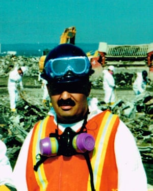Michael Guedes at Fresh Kills landfill site on Staten Island in 2001.