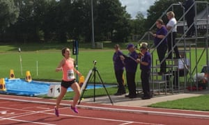 Crossing the line: Ellie Lacey
