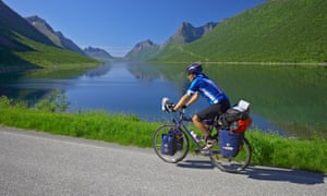 Cycling on Senja Island, Norway