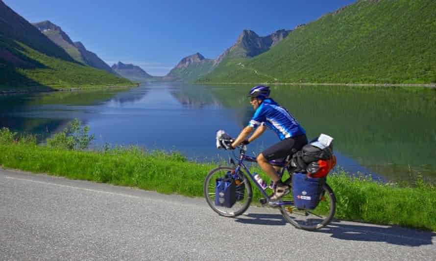 Cycling on Senja Island, Norway