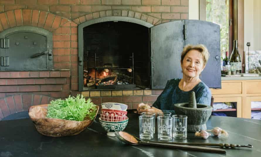 Alice Waters in her kitchen in Berkeley, California.