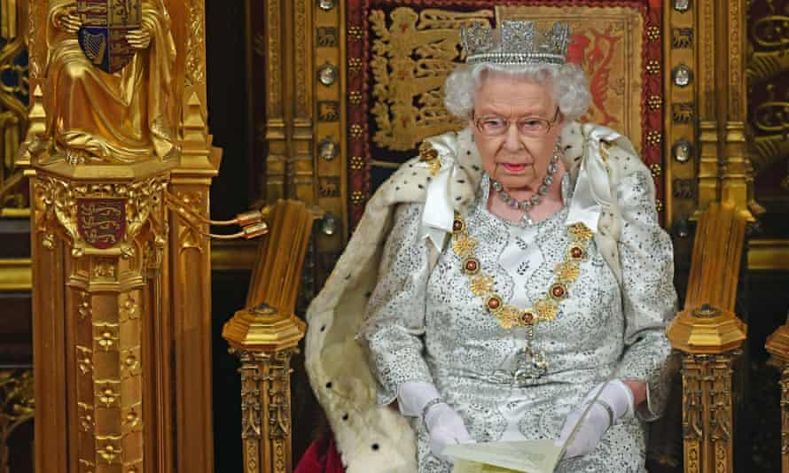 The Queen delivers the Queen's speech during the state opening of parliament.