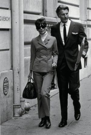 Audrey Hepburn and Hubert de Givenchy in Paris.