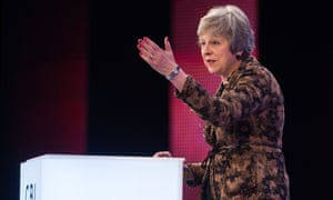 Theresa May speaks at the CBI conference in London, November 2018.