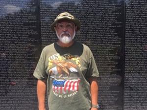 Vietnam war veteran Renan Reyes, 66, at the memorial.