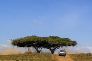 Nairobi, Kenya Adrien Fourmaux of France drives his Ford Fiesta WRC during day 1 of the Safari Rally Kenya 2021