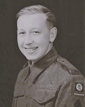 Ken Peppercorn in his wartime uniform.