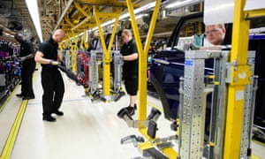 The Mini assembly line in Cowley, Oxford.