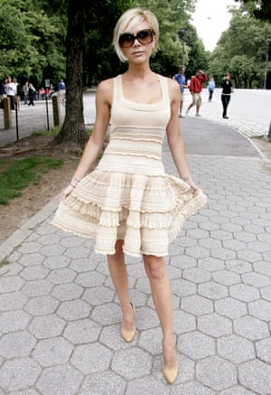 Alaia was a huge influence on Victoria Beckham - for her own style and that of her label. She often wore his dresses with full skirts in the mid-noughties, and his 'cling' aesthetic can be seen in the first collections of her brand.