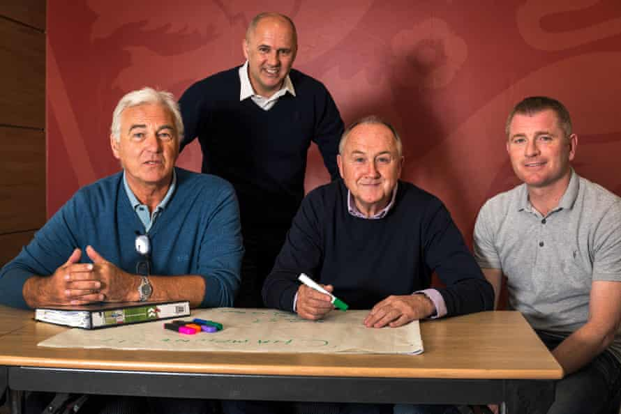 A recruitment talent course at the FA in 2016 with, from left to right: Mervyn Day, Richard Allan, Steve Walsh and Tommy Johnson.