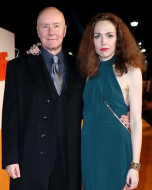 Irvine Welsh at the T2 premiere with second wife Beth Quinn.
