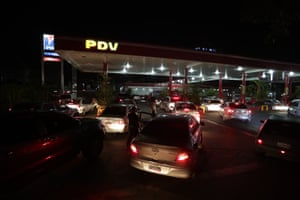 About only 100 of the country's 1,800 service stations were in operation