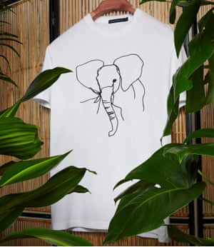 Trunk callHelp support the Elephant Crisis Fund by buying an embroidered elephant T-shirt, with 20% of total sales funding work to end ivory poaching.  £30, frenchconnection.com