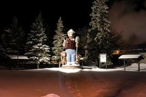 A Smokey Bear statute in International Falls, Minnesota.