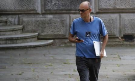 Dominic Cummings in his Sci Foo t-shirt.