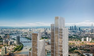 The planned One Nine Elms development on the south bank near Vauxhall