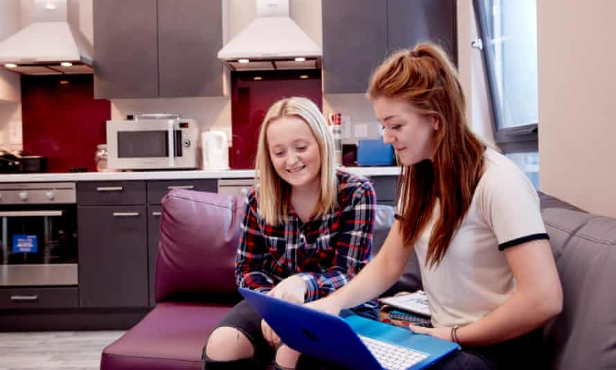 Two students in shared accommodation