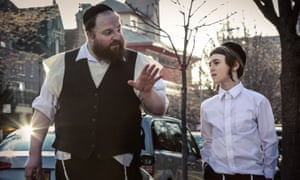 A father's moving quest … Menashe Lustig and Yoel Falkowitz in Menashe.