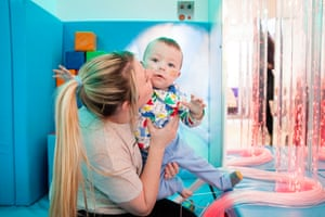 Freddie with his mother Becky Nash at the Royal Brompton hospital in London by Alicia Canter