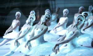 A scene from Swan Lake by the Bolshoi ballet company.