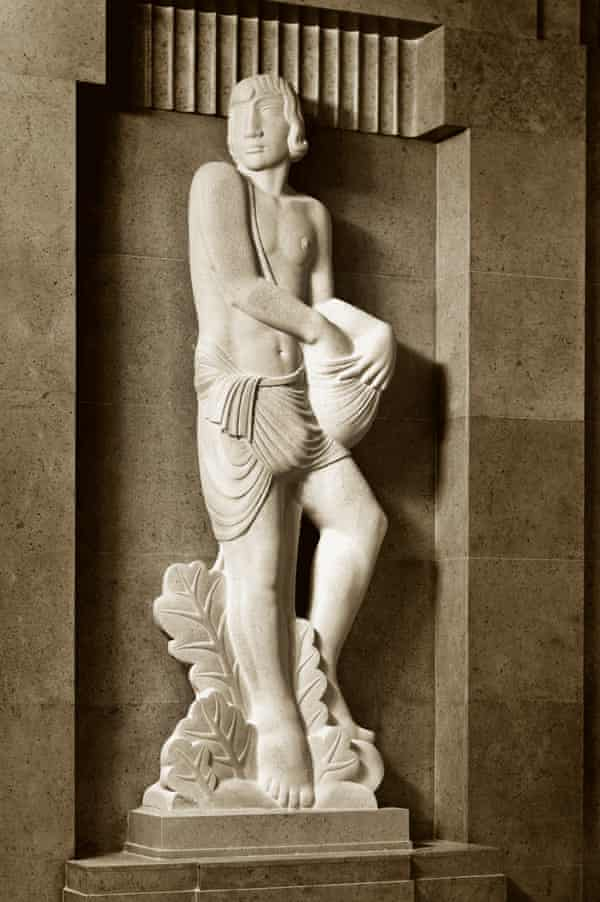 The Sower by Eric Gill, at the BBC's Broadcasting House in London. Gill was guilty of abusing his daughters, but the statue remains in place.