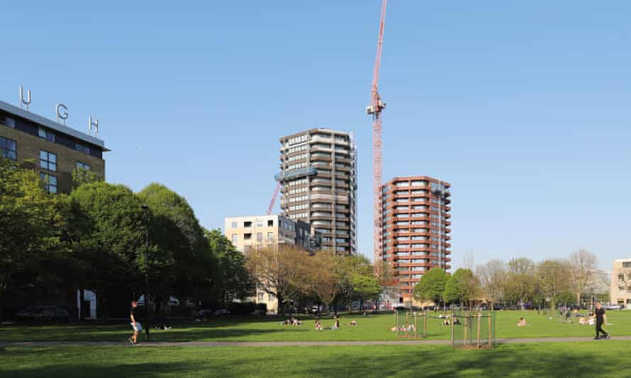 the Colville estate towers in Hoxton, east London.