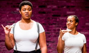 Ayesha Casely-Hayford and Kudzanayi Chiwawa, stars of The Importance of Being Earnest at Tara theatre, London.