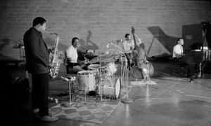 The John Coltrane quartet (from left): Coltrane, Elvin Jones, Jimmy Garrison, McCoy Tyner