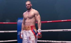 Florian Munteanu as Viktor Drago in the ring in Creed II