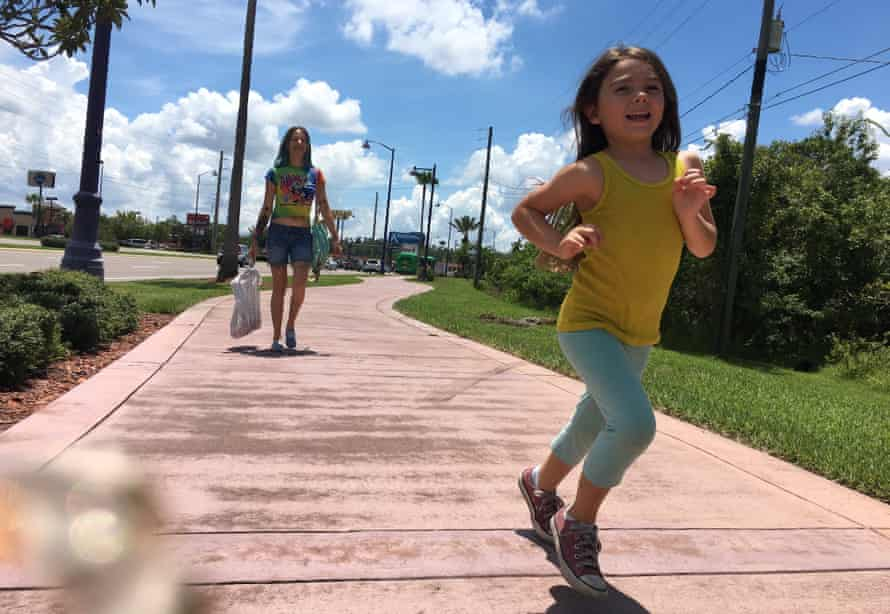Bria Vinaite (Halley) and Brooklynn Kimberly Prince (Moonee) in Sean Baker's The Florida Project.