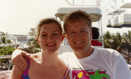 Megan Holgate and her late husband Steven in the early 1990s.