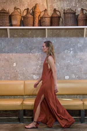 A model walks the runway during the Bondi Born. show.