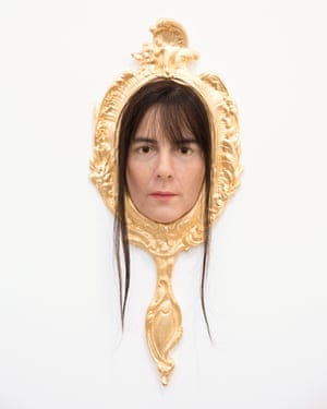 Gillian Wearing, Me As Mirror, at the Maureen Paley stand