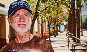 John Oldham makes his way toward the Trump Rally in Phoenix, AZ.