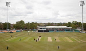 A sparse crowd watches Leicestershire take on Warwickshire in the Royal London One-Day Cup at Grace Road.